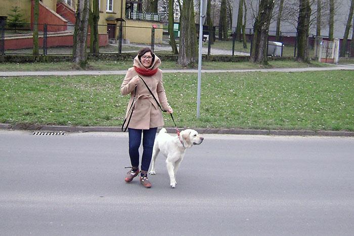 Mober na spacerze